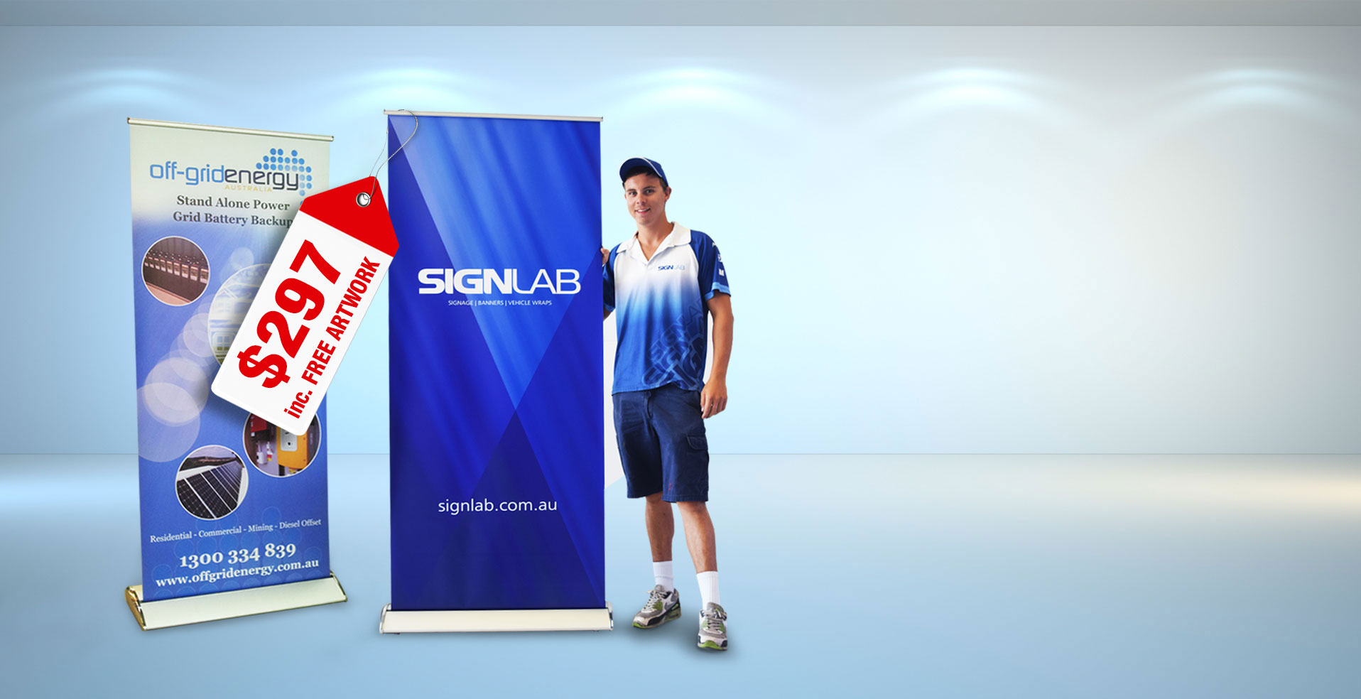 Pull Up Banner Displays Retractable Banner Stands Signlab - Vinyl banners adelaide